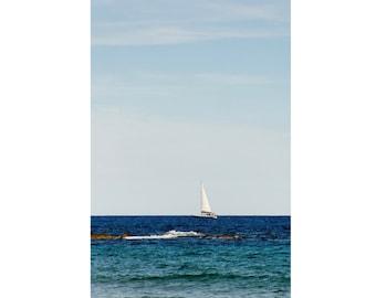 Sea Digital Photo - Yacht - Yacht Photo - Sea Photo - Seaside - Vertical - Digital Photo - Digital Download - Instant Download - Wall Decor