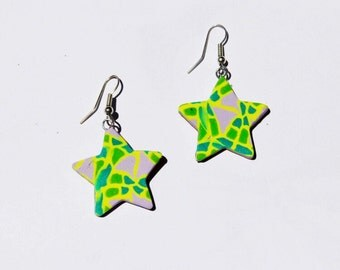 Electric green frog stars
