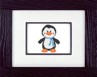 Cute Penguin Cross Stitch Pattern