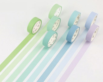 Cool Pastels Rainbow Japanese Washi Tape, Masking Tape, Planner Stickers, Decorative Stickers - WT306