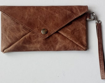 Envelope clutch Brown with inside sheep Association