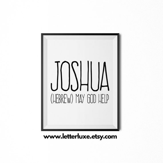 Joshua printable kids gift name meaning art baby shower for What is the significance of pi s unusual name