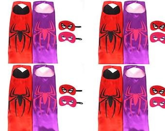 Set of 2,4,6 Spiderman, Spiderman Cape, Spiderman Mask, Spiderman Cape Set, Spiderman costume,