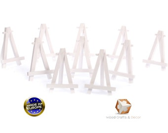 10 X mini wooden easel 5'' for wedding ,name holder or table number- white color