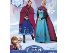 """Sewing Pattern for Misses size Costumes , Disney's """"Frozen"""" ,  Elsa & Anna outfits, Simplicity Pattern 1210"""