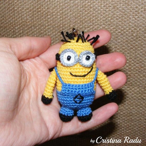 Minion crochet minion amigurumi minion keychain minion