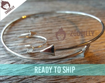 Arrow Ring and Bangle Set, Arrow Ring, Arrow Bracelet, Arrow Bangle, Adjustable Ring, Adjustable Bracelet, Boho Ring, Boho Bracelet