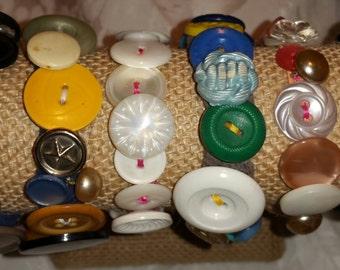 Vintage Button Bracelets