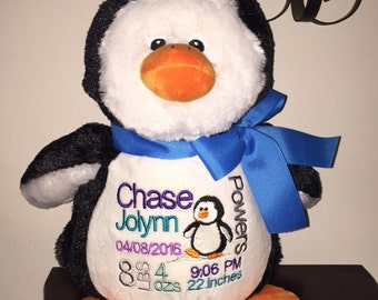 18 inch personalized stuffed penguin