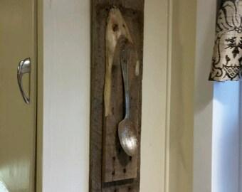 Antique spoon hanging