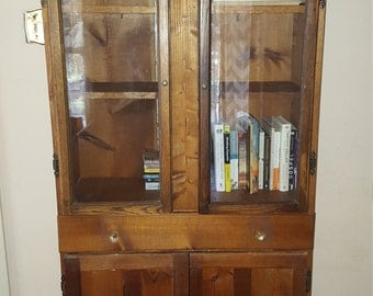 Farmhouse china cabinet/bookcase/storage