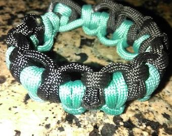 """Paracord Bracelet-Double Stitched Knot: 7"""""""