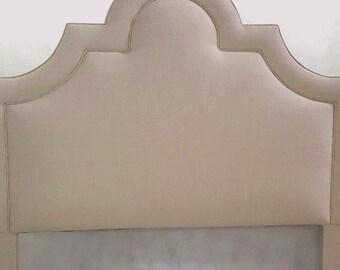Custom made, upholstered headboard