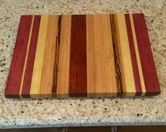 Mixed exotic wood cutting board
