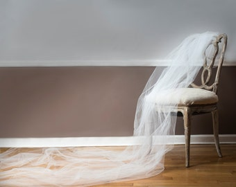 Cathedral Length Veil - The Toulon from the French Riviera Collection