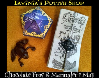 """Honeydukes Chocolate Frog and Marauders Map for 18"""" American Girl Doll, Harry Potter"""