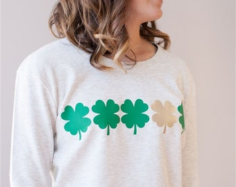 Instant Download Printable/Four Leaf Clover/ Two Files!