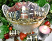 Votive Candle Gift Basket-Berry