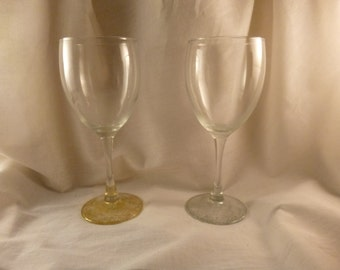 Silver and Gold Wine Glass Set