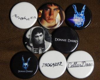 8 Donnie Darko Pin Buttons 1.25 Inch