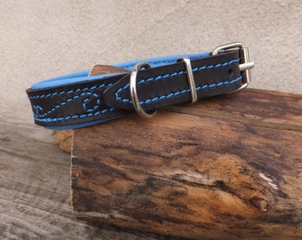 Leather collar for small dog