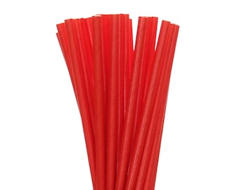 Paper Straws, Solid Red Paper Straws, Red Christmas Straws, Valentines Party Decor, 1st Birthday Decor, Graduation Party, Vintage Glam Party