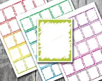Full box Scribble , Printable Planner, Printable Sticker, Erin Condren Planner Sticker