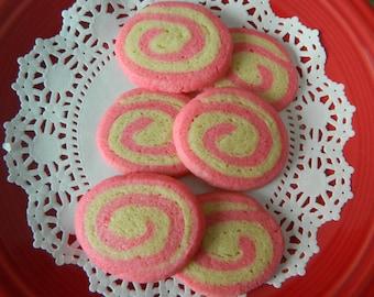 Pink Pinwheel Sugar Cookies - One Dozen