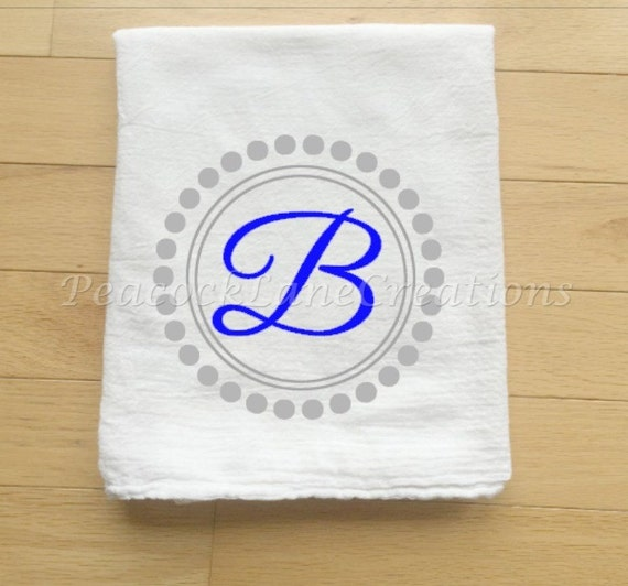 Monogrammed Personalized Kitchen Tea Towel