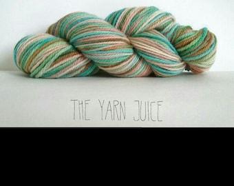 100% hand dyed wool yarn