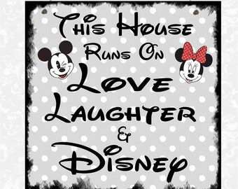 Disney In this House Family Plaque Mum Daughter Sister Gift Present