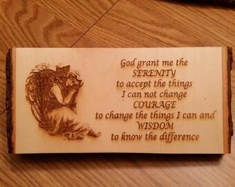 Serenity Prayer with angel