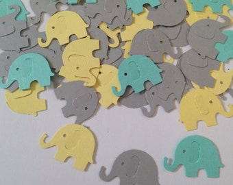 Baby Elephant Baby Shower, Elephant Baby Shower, Elephant Baby Shower Decorations, Baby Elephant Confetti, Turquoise Elephant, Gender Reveal