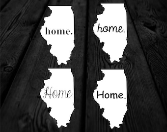 Illinois Home Decal | Home State Decal | Illinois Decal | Car Decal | Car Sticker | Multiple Font Choices | Homestate | 144