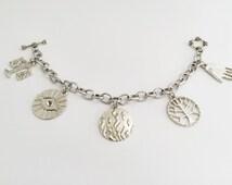 SALE! Divergent Inspired Charm Bracelet, Divergent Factions Bracelet
