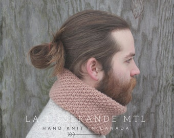 Knit cowl men - More colors available - Mens knit cowl scarf - Mens scarves and wraps - Mens knit cowl - Mens cowl scarf - Wool cowl scarf