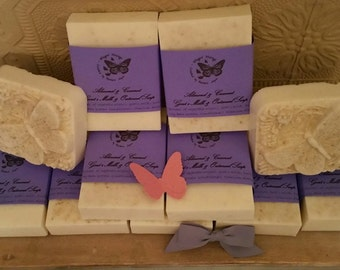 Goat's Milk Soap in 2 Luscious Fragrances - Frankincense - Almond - Orange - Gift Idea - Pampering - All Natural - Christmas - Spa