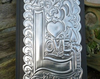A5 Journal With Pewter Embossed 'Love'