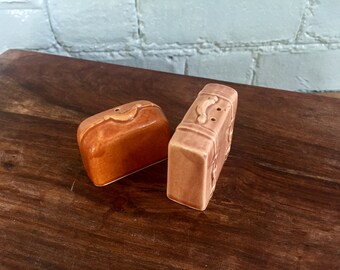 Cute Vintage Luggage Salt and Pepper Shakers