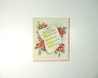 unused vintage greeting card wedding anniversary