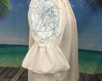 Wench Mermaid with rope frame Blouse