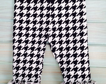 Infant/toddler houndstooth leggings/footless tights by That's Sew Mimi
