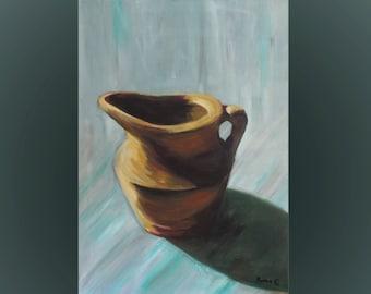 Original art, oil on canvas, realistic, oil paint, handmade, wall art, home decor