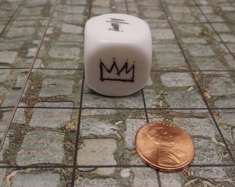 6 Custom 6 Sided Dice Your Logo or Picture 25mm