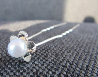 Jeweled Hair Pins - Wedding - Bridal - Jewelry - Hair - Accessory
