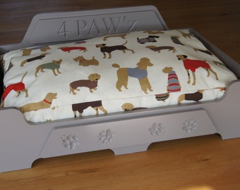Personalised Luxury Wooden Dog Bed *Large* Other sizes available see Shop