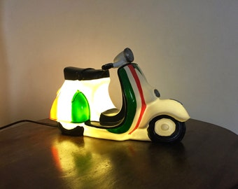 Italian Vespa lamp with LED lighting