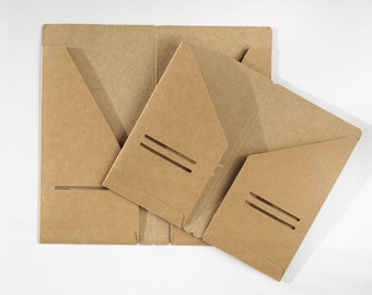 Kraft Paper Card Holder 300gsm for Leather Notebook Refillable Traveller Journal Diary