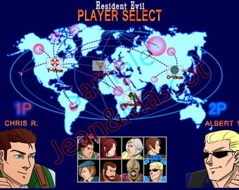 Resident Evil mash-up Street Fighter Character Select (CHOOSE YOUR CHARACTER) Digital Image