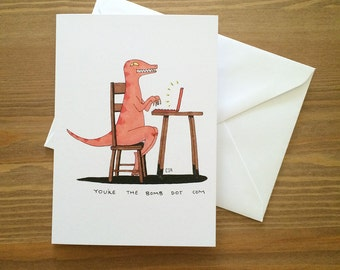 You're the Bomb Dino Card